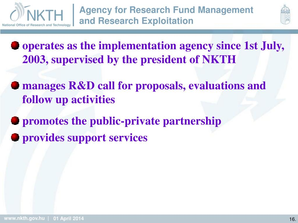 Agency for Research Fund Management and Research Exploitation