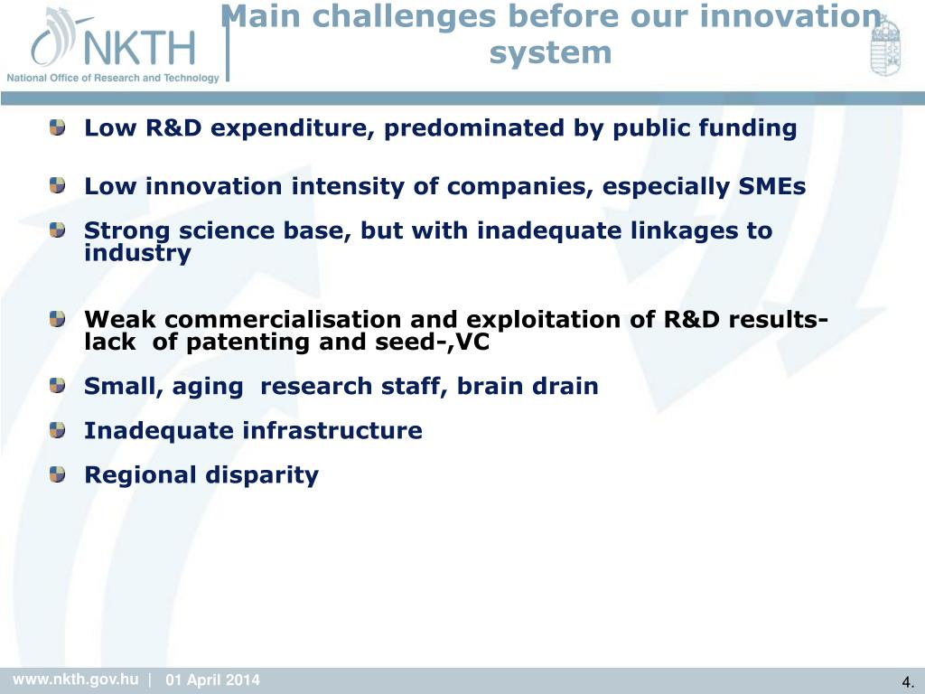 Main challenges before our innovation system