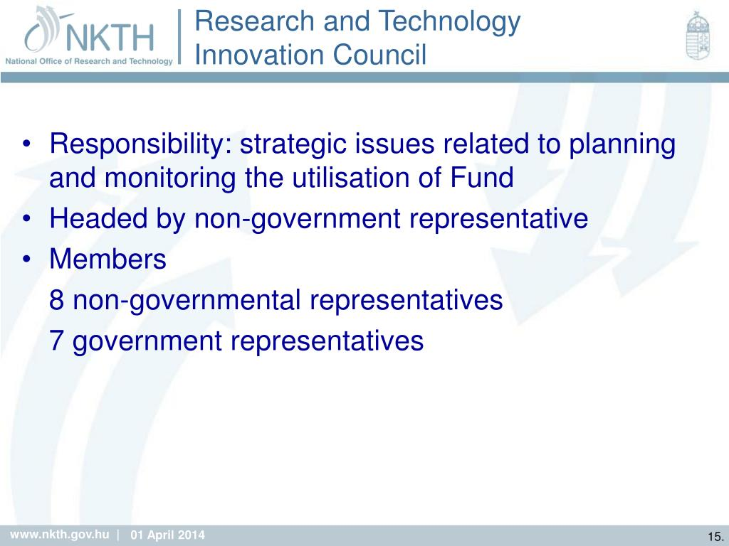 Research and Technology Innovation Council