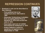 repression continues