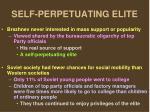 self perpetuating elite