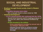 social and industrial development
