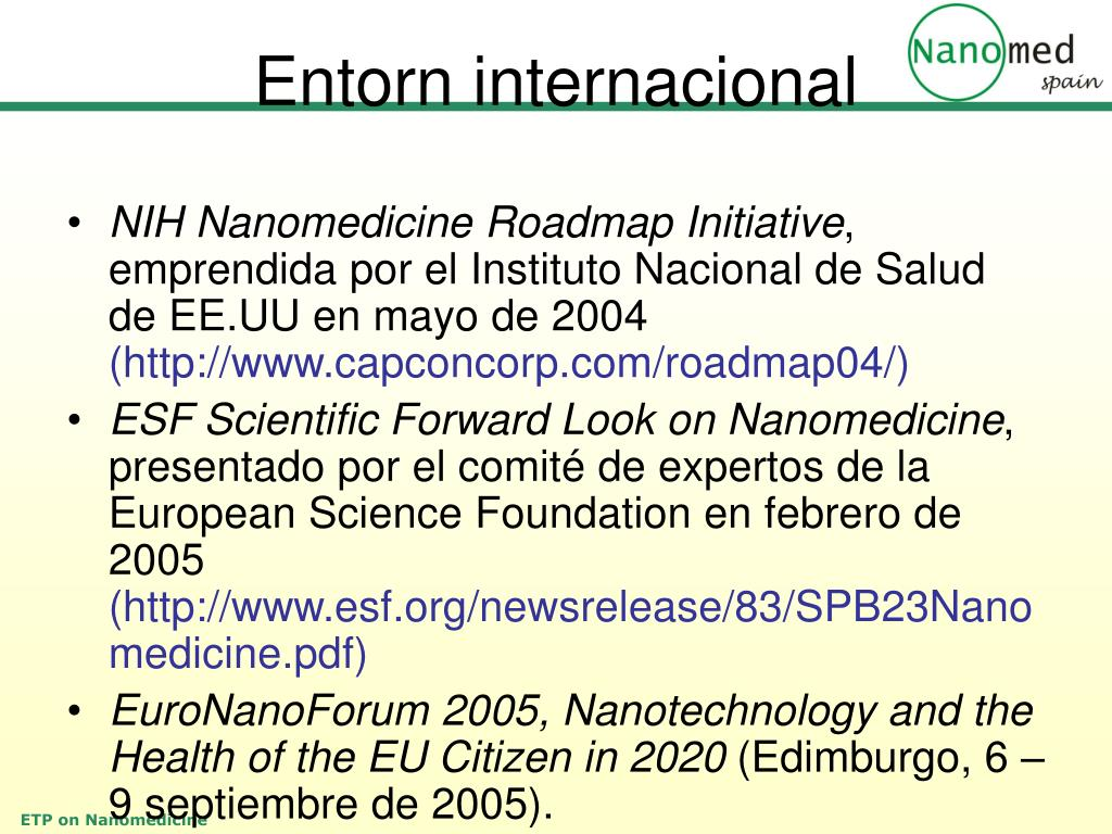 NIH Nanomedicine Roadmap Initiative