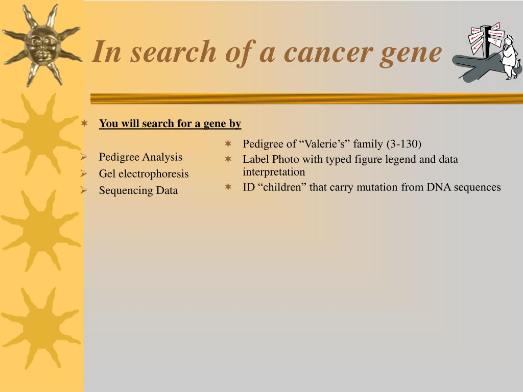 You will search for a gene by