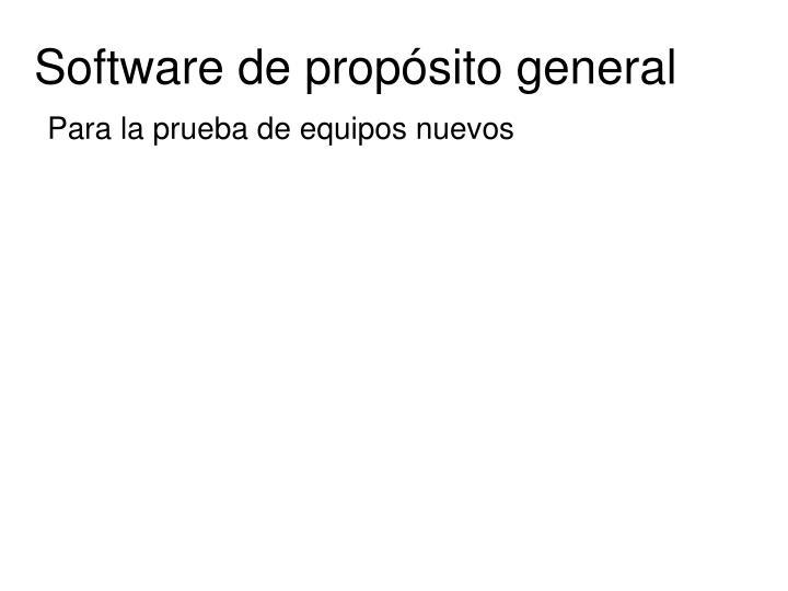 Software de propósito general