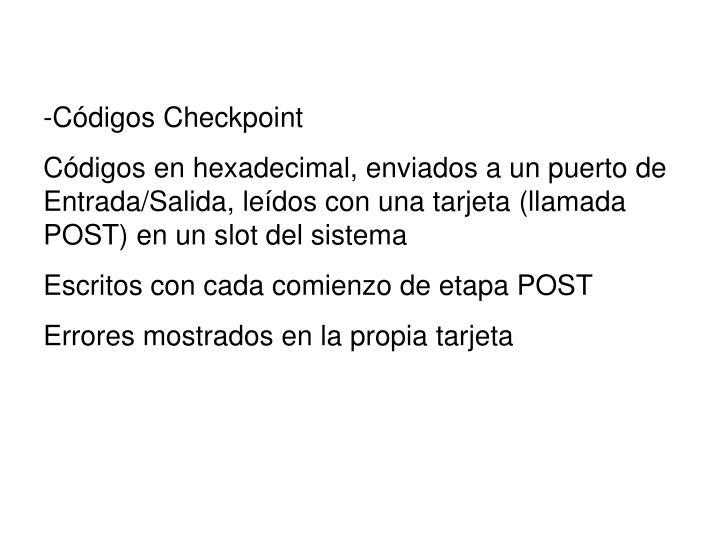 -Códigos Checkpoint