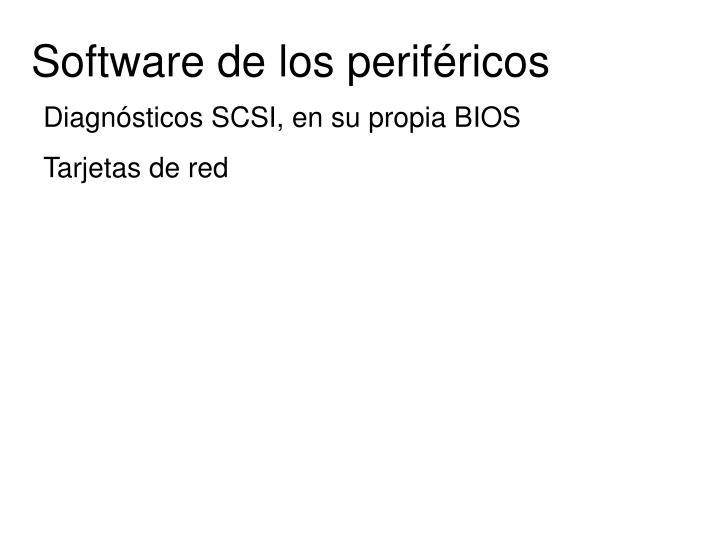 Software de los periféricos
