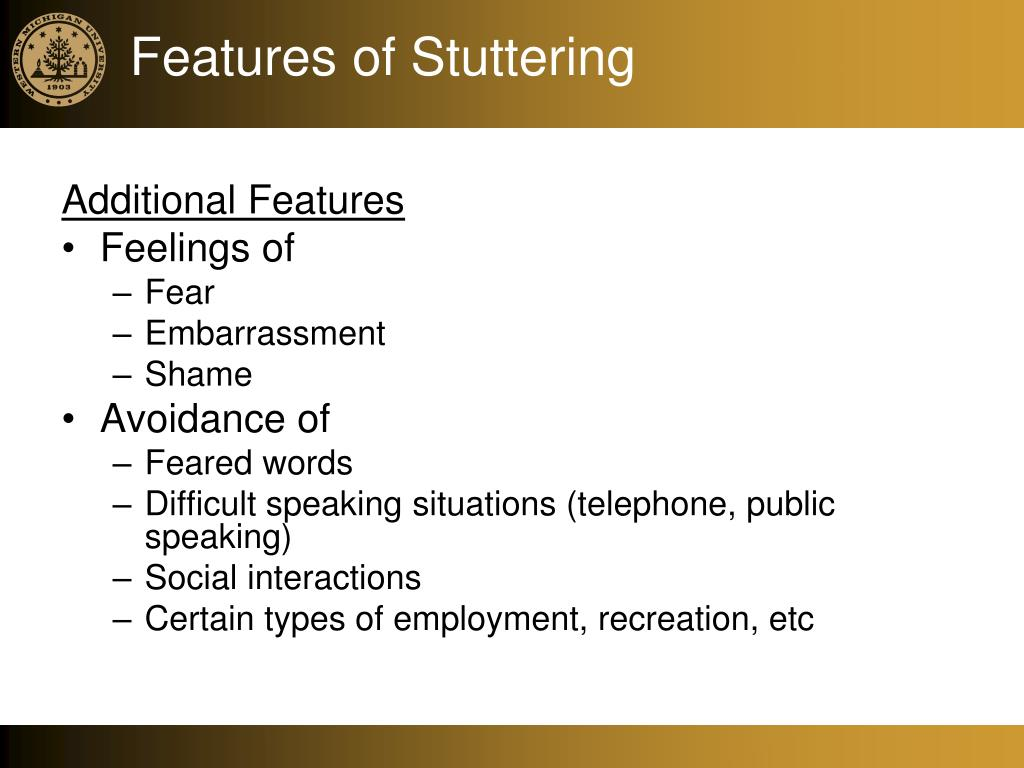 Features of Stuttering