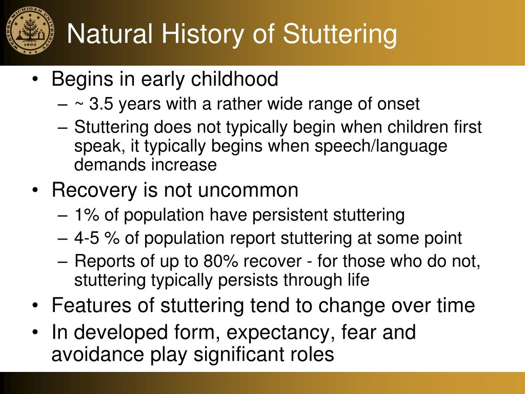 Natural History of Stuttering