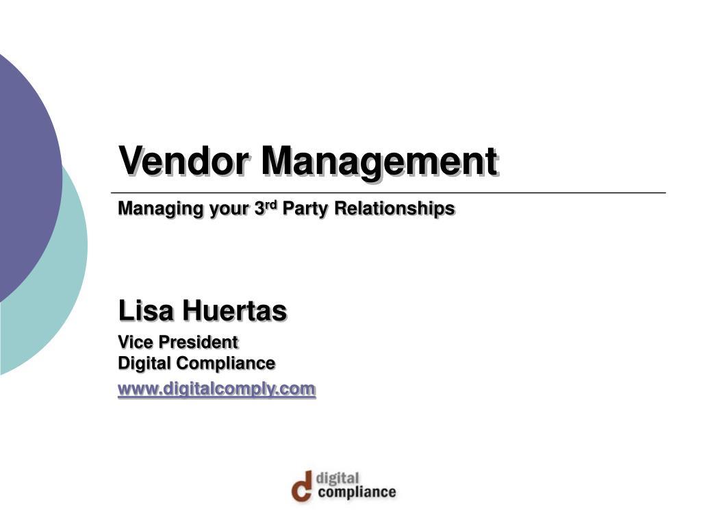 vendor management l.