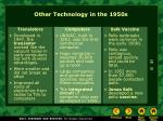 other technology in the 1950s