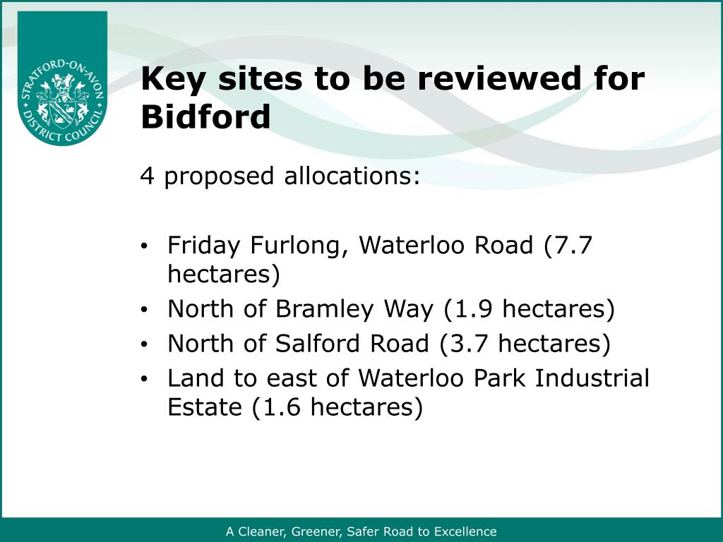 Key sites to be reviewed for Bidford