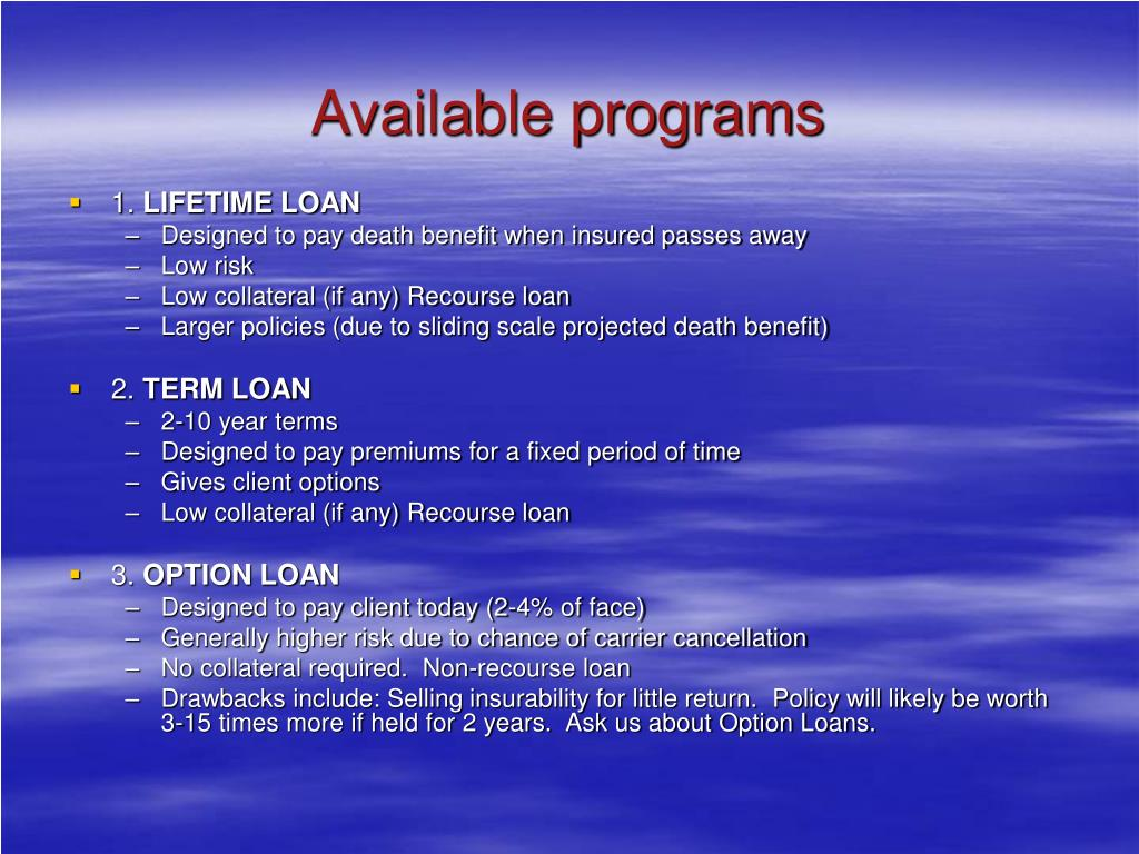 Available programs
