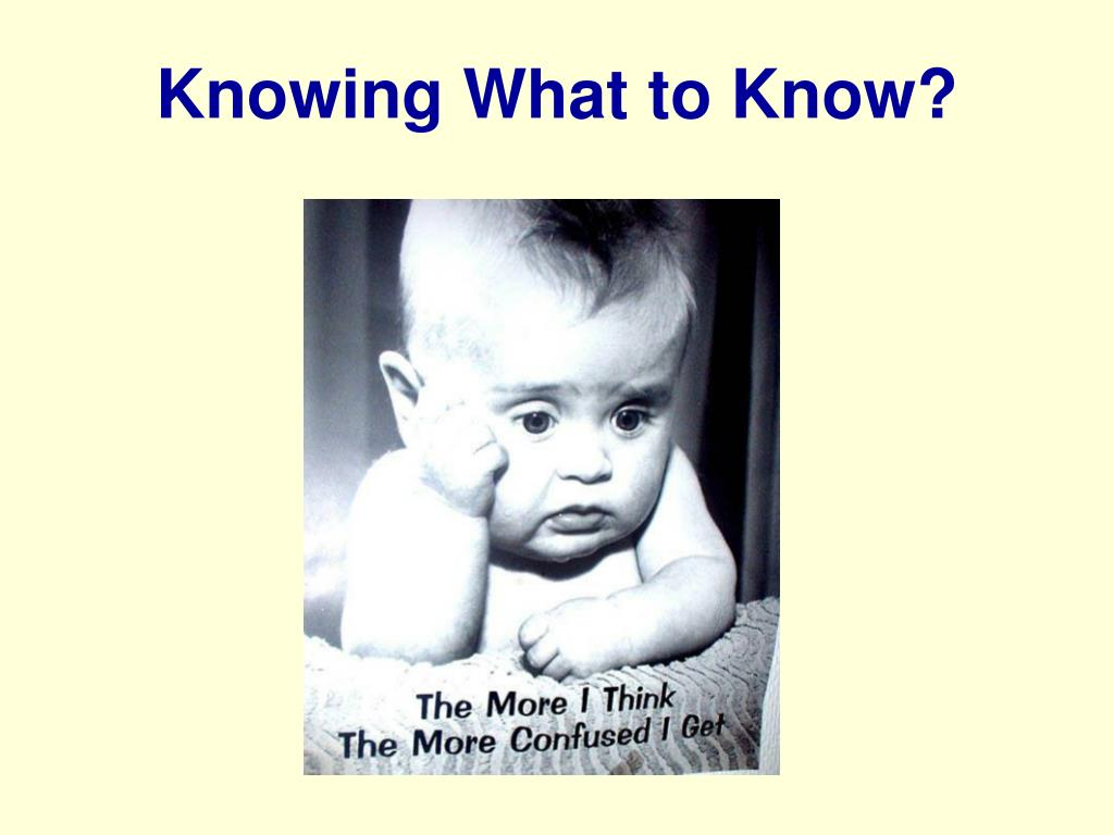 Knowing What to Know?