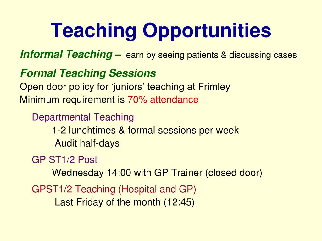 Teaching Opportunities