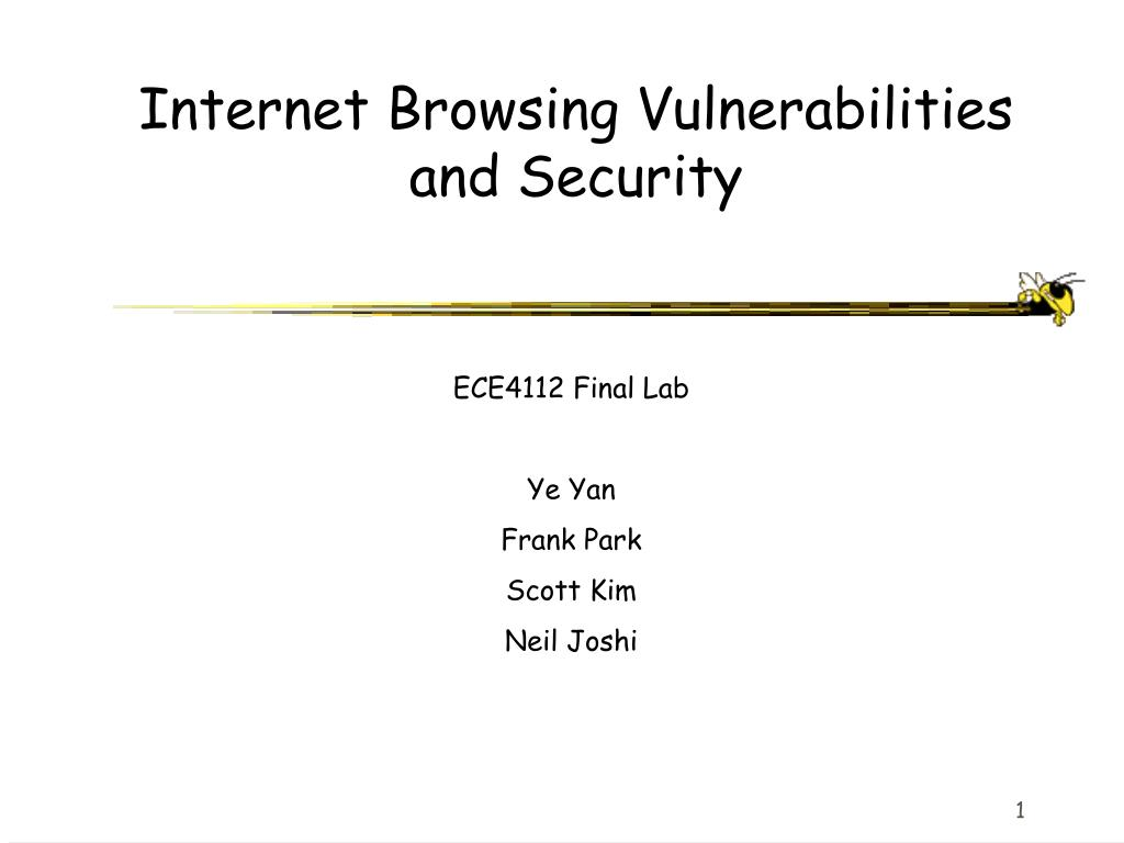 internet browsing vulnerabilities and security l.