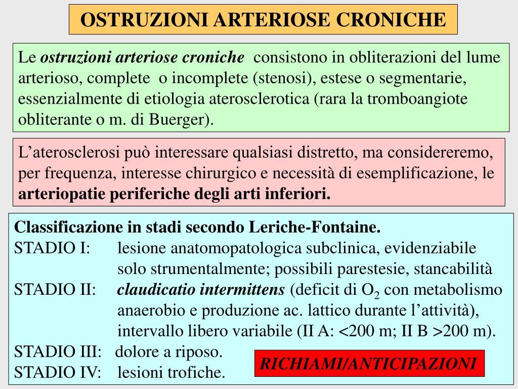 OSTRUZIONI ARTERIOSE CRONICHE