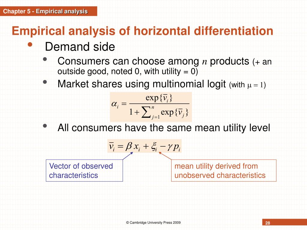 Vector of observed characteristics