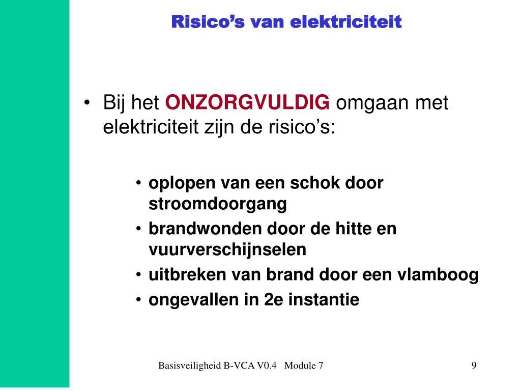 Risico's van elektriciteit