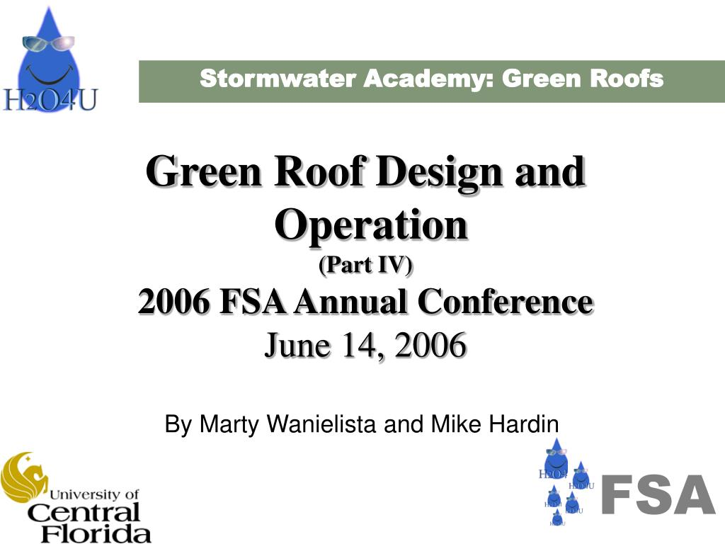 Stormwater Academy: Green Roofs
