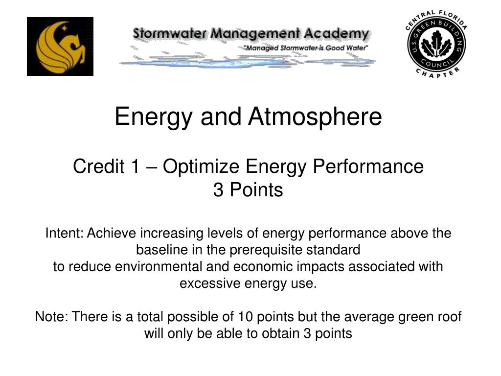 Energy and Atmosphere