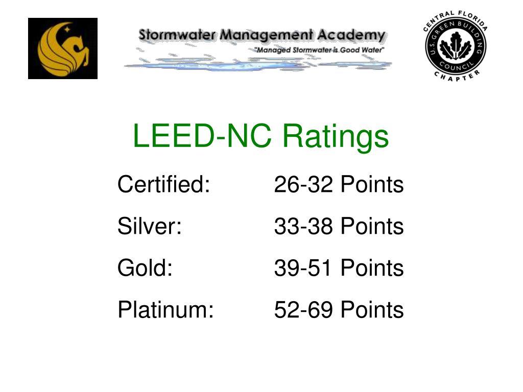 LEED-NC Ratings