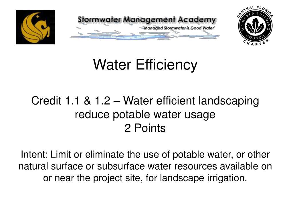 Water Efficiency