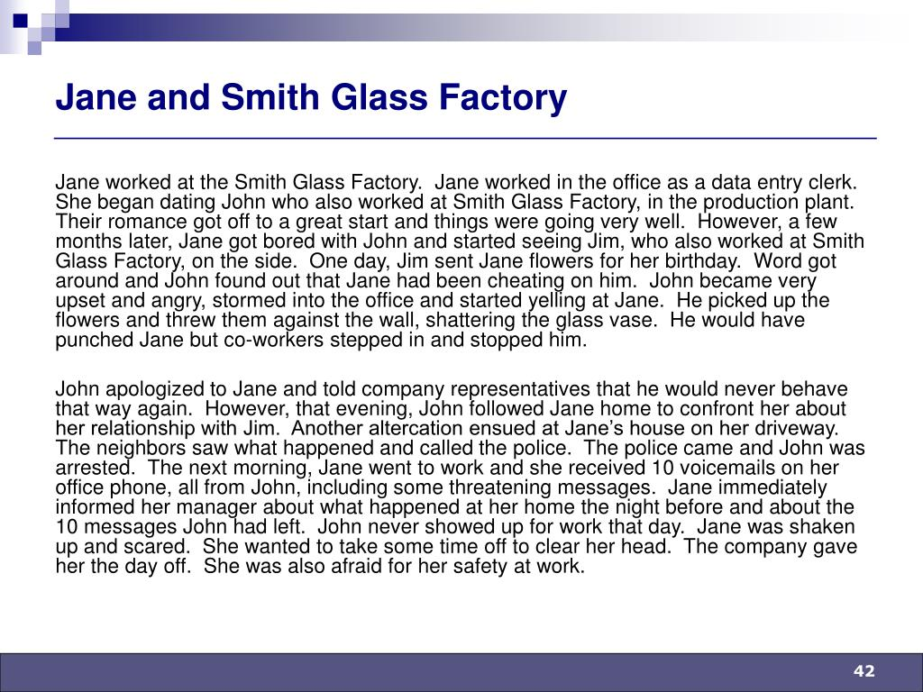 Jane and Smith Glass Factory