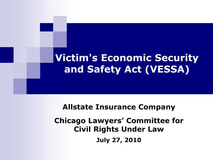 Victim s economic security and safety act vessa