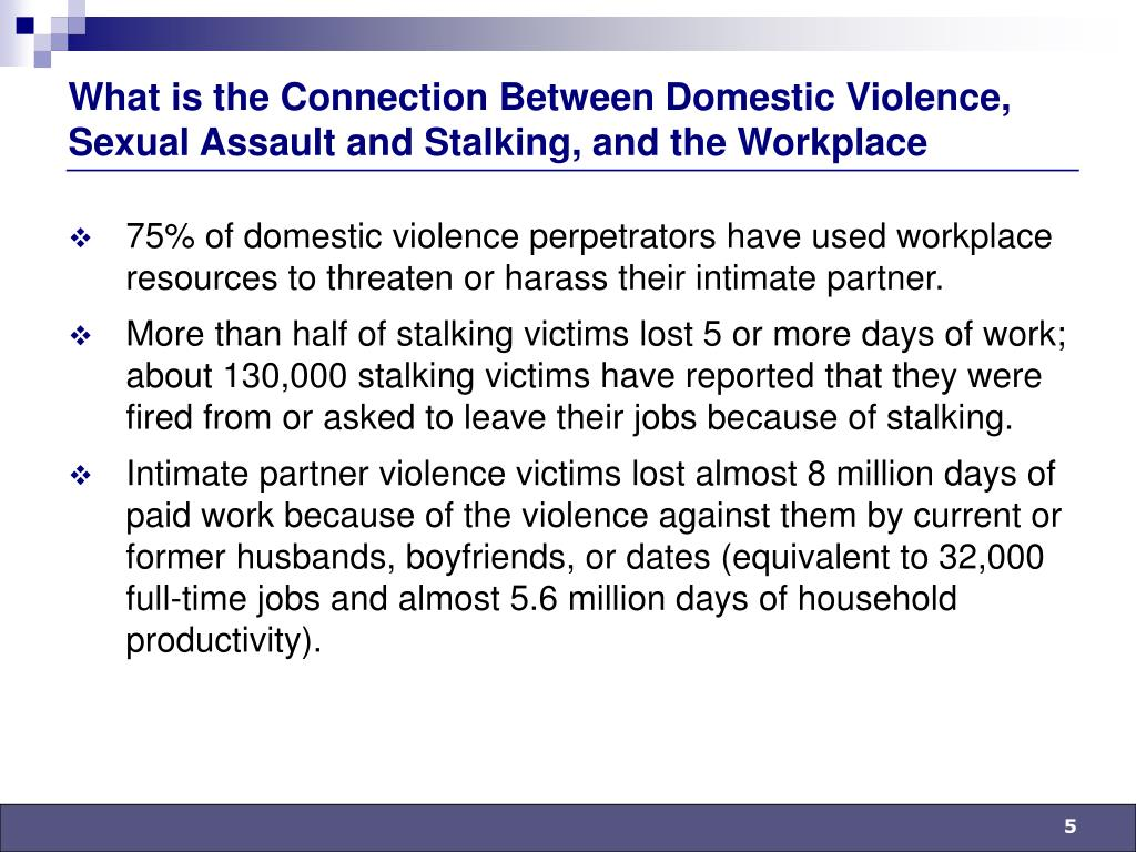What is the Connection Between Domestic Violence, Sexual Assault and Stalking, and the Workplace