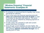 window dressing financial statements examples 1