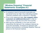window dressing financial statements examples 2