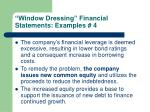 window dressing financial statements examples 4