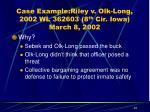 case example riley v olk long 2002 wl 362603 8 th cir iowa march 8 200223