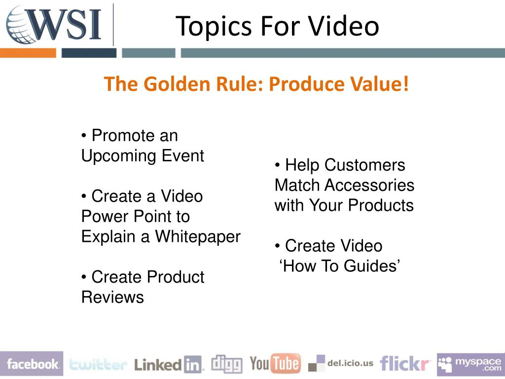Topics For Video