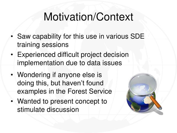 Motivation context