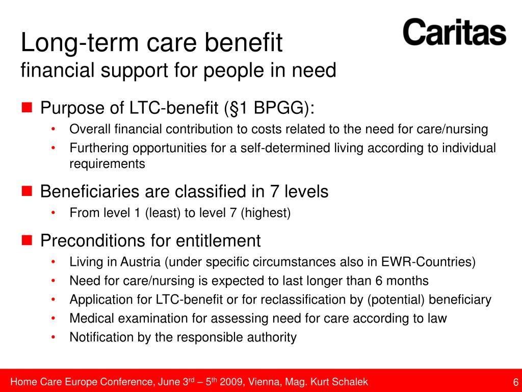 Long-term care benefit