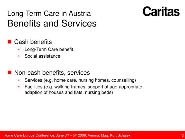 Long term care in austria benefits and services