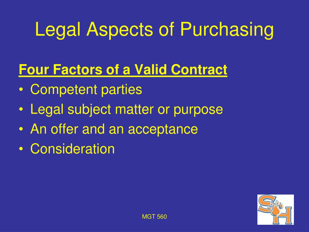 Legal Aspects of Purchasing