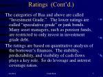 ratings cont d