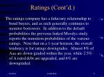 ratings cont d6