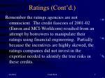 ratings cont d7