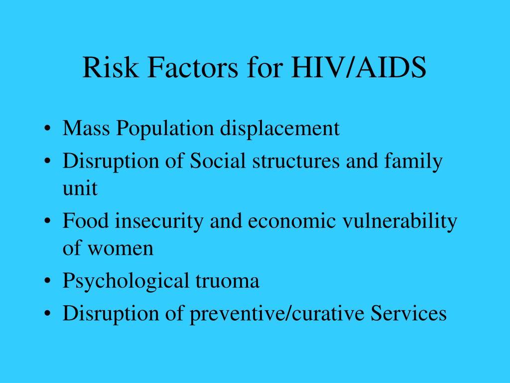 Risk Factors for HIV/AIDS