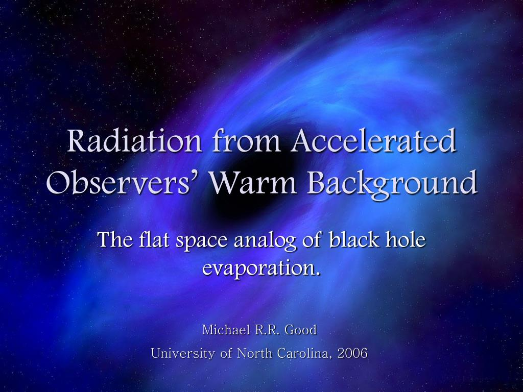 radiation from accelerated observers warm background l.
