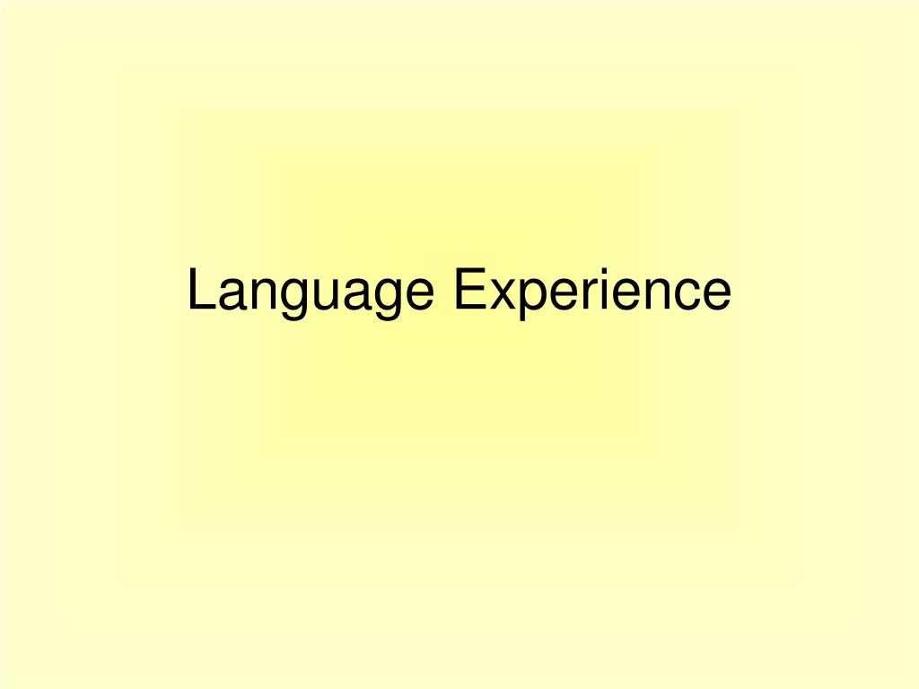 language experience l.
