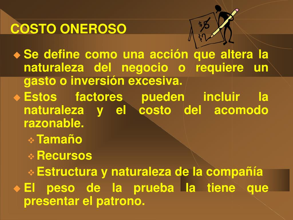 COSTO ONEROSO