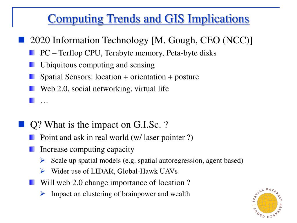 Computing Trends and GIS Implications