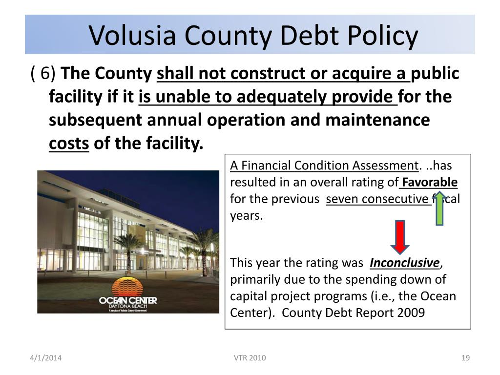 Volusia County Debt Policy