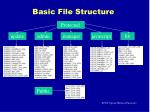 basic file structure