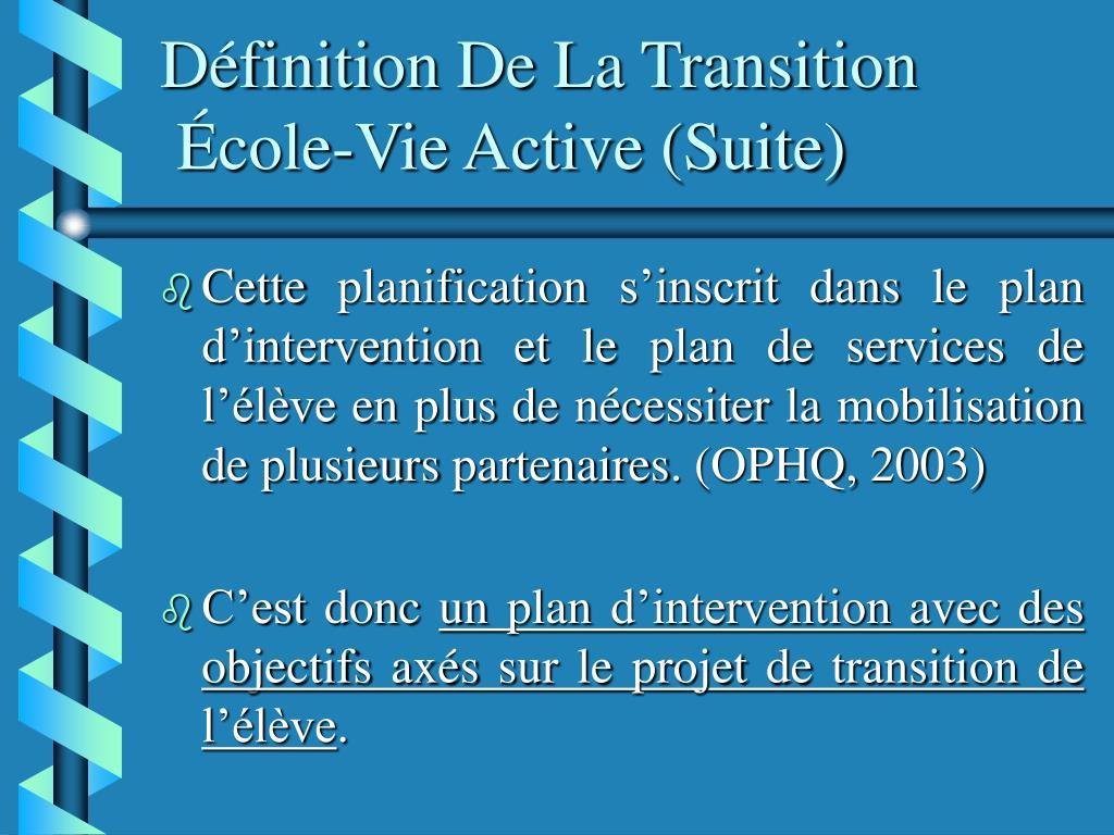 Définition De La Transition